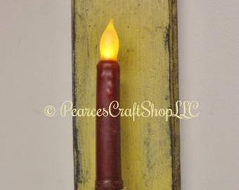 Colonial Style Candle Holder - Made To Order, Primitive Americana Candle Holders, Country Farmhouse Decor