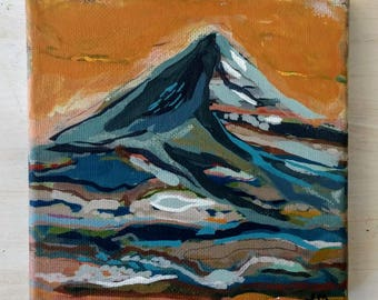 Mini Mountain // Original Painting on Canvas