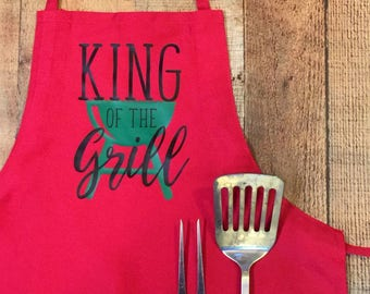 Father's Day Holiday Apron - Custom Fathers Day Apron - BBQ Apron - Your choice of Apron Color and Design - Southern Girls Collection Brand