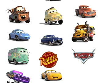 """9"""" DIGITAL Disney CARS 3 Centerpieces - Large Size - Lightning McQueen Tow Mater - Print at Home DIY"""