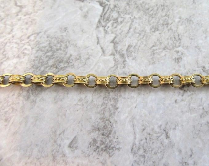 Victorian Link Bracelet, Antique Link Bracelet, Decorative Antique Link Bracelet, Decorative Bracelet, Link Bracelet, Antique Chain Bracelet