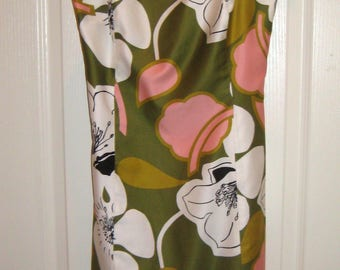 ISAAC MIZRAHI Cotton Spagetti Strap summer dress size 4, Mod Retro Look