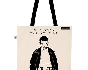 Be an Eleven Stranger Things Inspired Illustration Earth Positive Tote Bag