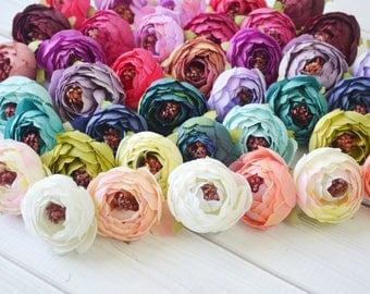 """Peony Artificial Flowers, 1.5"""" peony flowers, DIY baby headbands, DIY supplies, Wholesale Flowers, Rustic silk flowers, Wedding flowers"""