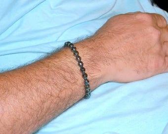 Beaded Bracelet For Men, Hematite Bracelet, Mens Jewelry