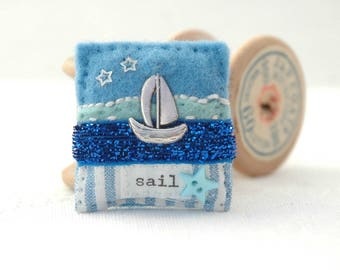sailing boat brooch, nautical brooch, sailing gifts for her, gift for sailors, yachting gifts, ship brooch, seaside jewellery, boating gifts