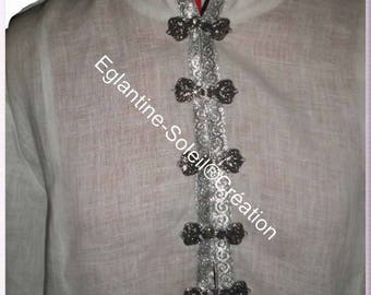 Tabard tunic linen, medieval, custom.
