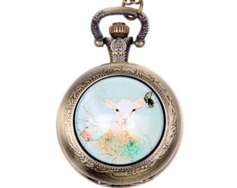 Necklace Pocket watch goat