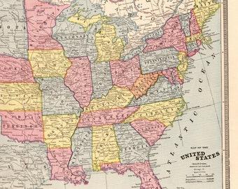 Us map Etsy