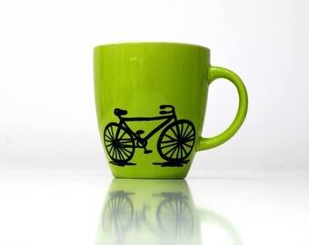 Bicycle gifts cycling gifts Cyclist mug coffee mugs - bike mug bicicletta bicycle coffee cycle  bike coffee mug - cycling cup - biker mug