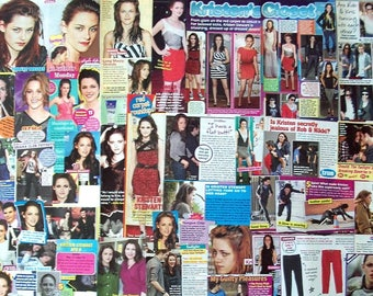 KRISTEN STEWART ~ Twilight Saga, New Moon, Eclipse, Breaking Dawn, Bella Swan ~ Color Clippings for Scrapbooking