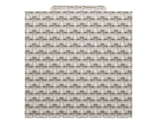 Basket Weaving Molds : Basket weave texture silicone mold for fondant and gumpaste