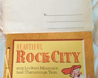 See Rock City Souvenir Photo Album Vintage Chattanooga Tenn Memento Circa 1960s-70s from Rock City on Lookout Mountain Fairyland Caverns