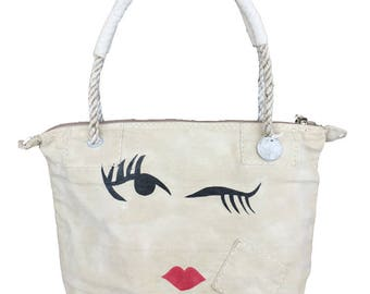 Ali Lamu Small Weekend Bag Natural Wink