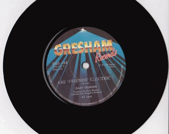 """GARY NUMAN Cars 1987 South Africa Issue Very Rare 7"""" 45 rpm Vinyl Single Record pop synth electro 80s new wave Are Friends Electric DGS488"""