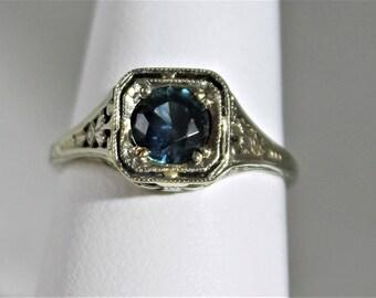 Montana Sapphire 18k white gold Ring