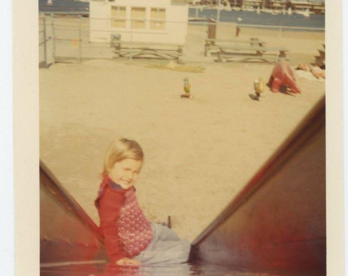 Vintage Snapshot Photo: Slide, c1970s (710613)