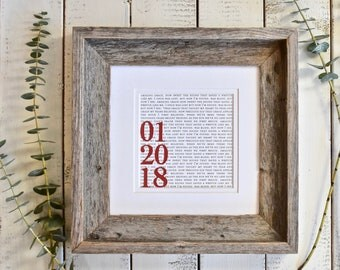 Personalized Anniversary Gifts for Him | Personalized Anniversary Gifts For Her | Personalized Anniversary Gift for Couple