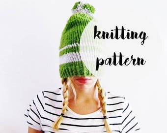 Hat Knitting Pattern / Beanie Knitting Pattern / Womens Hat Pattern