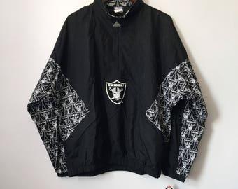 vintage apex one los angeles raiders windbreaker jacket mens size XL deadstock NWT 90s