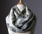 Fast Shipping Silver/charcoal rose scarf pashmina shawl  fall/spring accessories gift for woman for mom Mothers day gift Women scarves