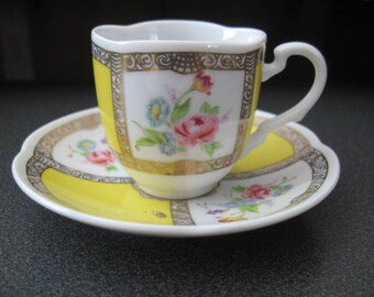 Vintage Collectible 1985 Avon European Tradition Espresso/Demitasse Cup and Saucer