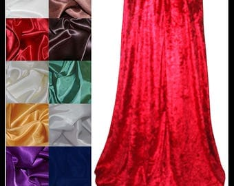 Red Crushed Velvet Cloak lined with a Shimmer Satin of your choice. Ideal for LARP LRP Medieval Costume Valentines. NEW!
