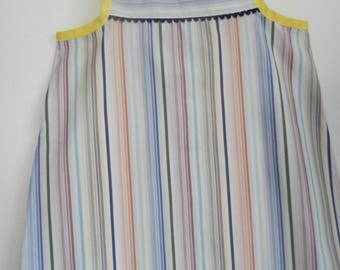 Multicolor striped summer tunic, blue croquet 2/4 years
