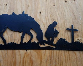 Praying Cowboy Wall Decor