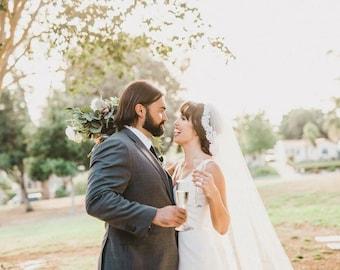 Lace Wedding Veil, Eyelash Lace