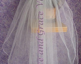 First Communion Veil (f) White on Comb/Barrette