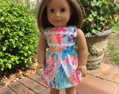 "NEW STYLE Catch The Wave Lilly American Doll Dress Lilly Doll Inspired ""Elize"" Dress - Authentic Lilly Pulitzer® Fabric -Doll Clothes"