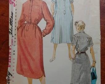 Vintage 1954 Simplicity Chemise Dress Pattern Misses Size 14 Bust 32 #4761