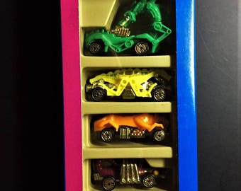 Hot Wheels 5 Vehicle Speed Demons Giftpack 1991 New In Box #11363  Rodzilla, Vampyra, Evil Weevil, Double Demon, Cargoyle.