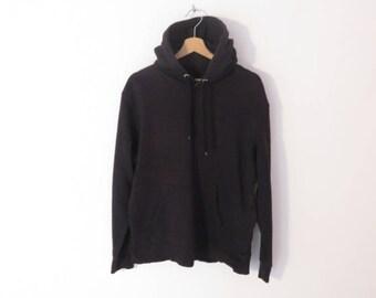 Angelo Litrico Black Cotton Blend Urban Hooded Sweatshirt, sz. XL