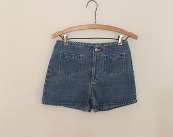 Medium Blue Denim Shorts - Early 90s