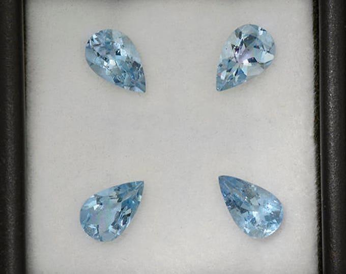 Beautiful Blue Aquamarine Gemstone Set from Erongo 2.72 tcw.