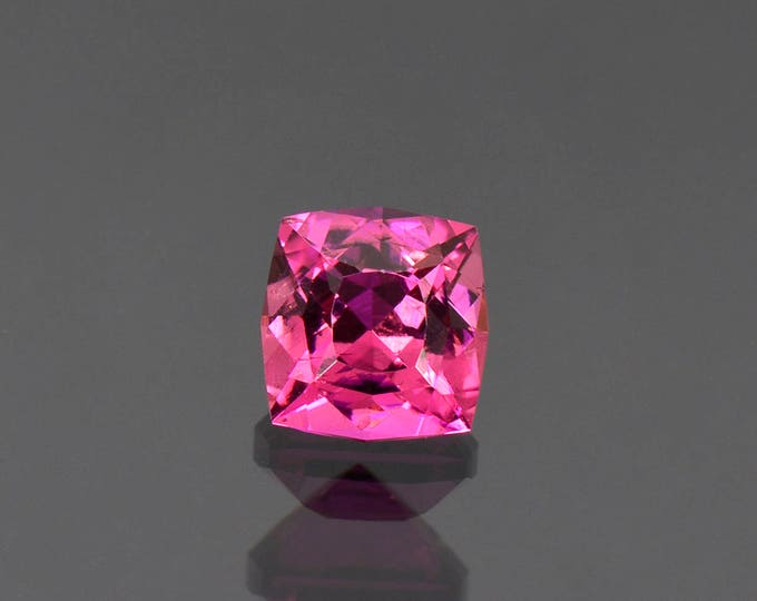 UPRISING SALE! Gorgeous Rich Pink Tourmaline Gemstone from Nigeria, 2.28 cts, 7.5 mm, Square Cushion.