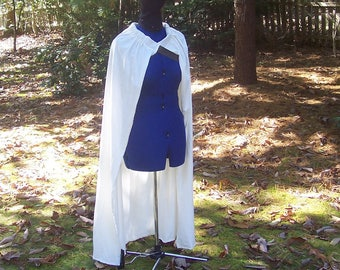 Game of Thrones Cape - White / Off White - Medieval Costume - Viking - SCA - Roman Greek Biblical Shepherd Cloak - Halloween Cape