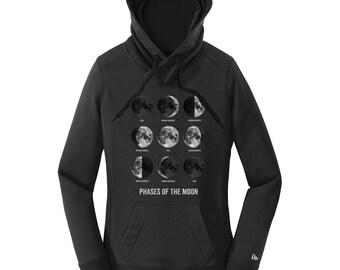 Moon Phase Sweatshirt, Comfy Sweatshirt for Women, Mens Hoodies, Science Hoodies, Moon Hoodies