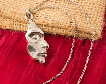 Silver Founding Stone Necklace