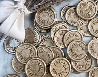 Laurel Wreath Wax Seals, Olive Branch Wax Seals, Self Adhesive Wax Seals, Envelope Seals, Wax Seals, Laurel Wreath Wax Seal, Laurel Wax Seal