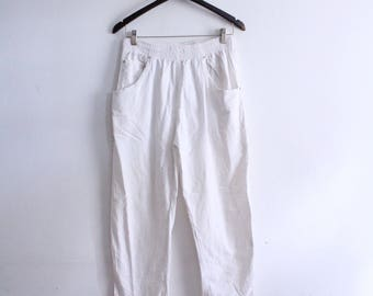 Casual White 90s Lounge Pants