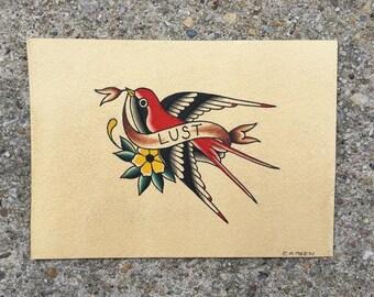 Lust Sparrow Print