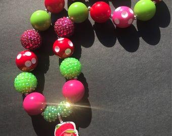 Strawberry Shortcake Chunky Necklace