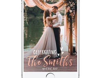 Wedding Snapchat Geofilter, Rustic Wedding Snapchat Filter, Bridal Shower Snapchat Geofilter, Custom Party Geofilter, Customized Personal