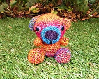 Little Teddy Bear, Miniature Crochet Bear, Amigurumi Bear, Coloured Bear, Handmade Bear, Stuffed Bear,  stuffed animal, Small Bear, Teddy