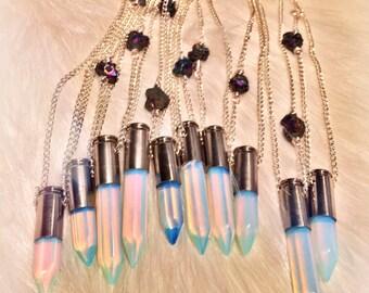 LightSaber Opalite Point Necklace
