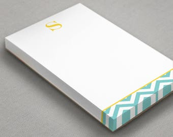 Personalized Notepad | To-Do List | Customized Note Pad | CHEVRON INITIAL | Custom Stationary Paper Pad | Personalized To Do List Stationery