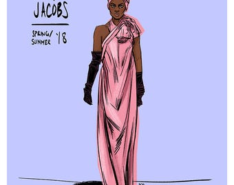 Marc Jacobs SS18 Illustration